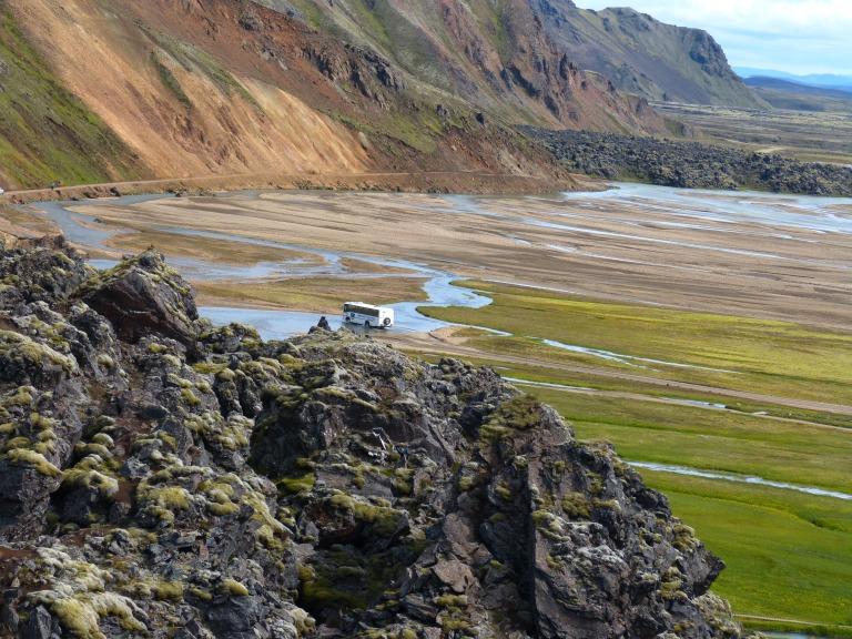 Kein Problem für isländische Busse